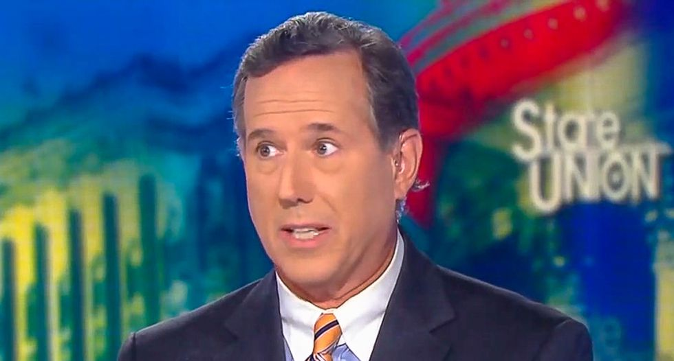 Rick Santorum starts shouting about Joe Biden after being unable to defend Trump's Ukraine scheme