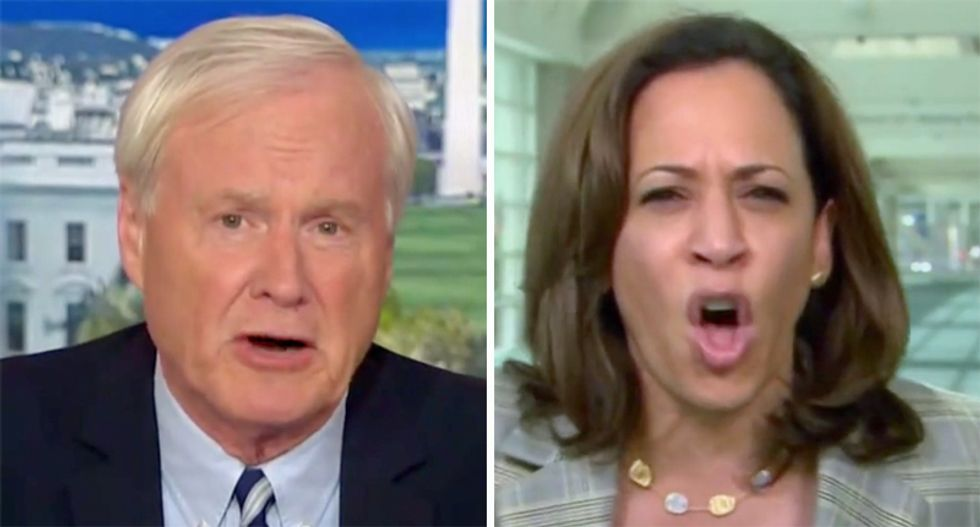 Watch Kamala Harris shut down Chris Matthews on MSNBC: 'Chris, people are dying'