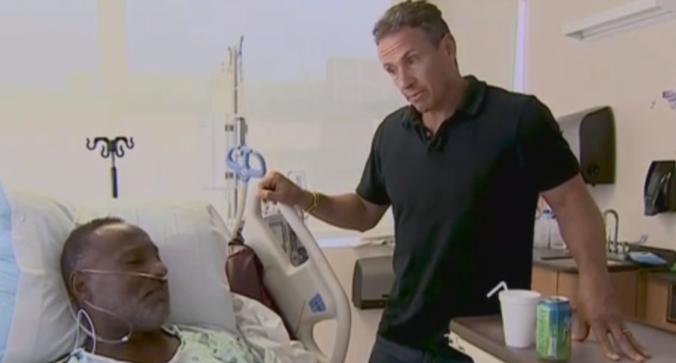 CNN's Chris Cuomo gets emotional interviewing shooting survivor: 'If I could trade my life...'