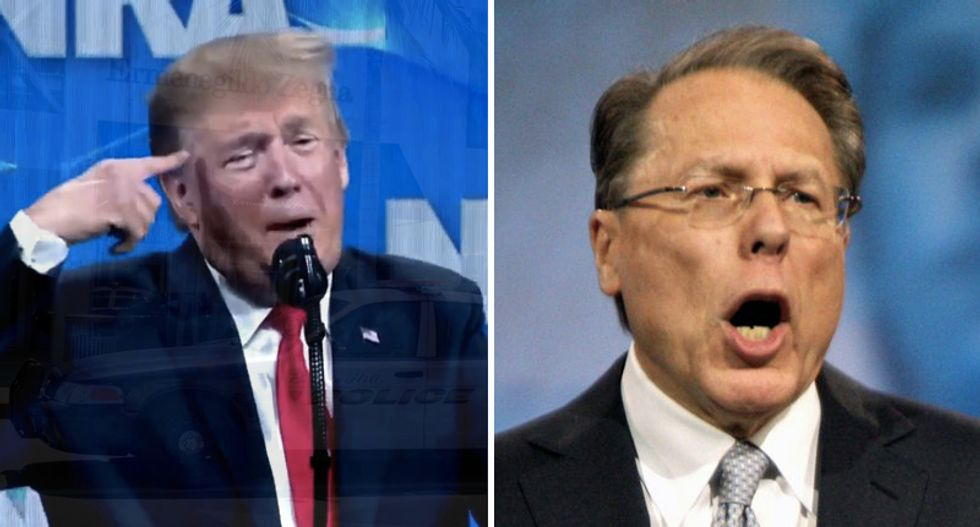 NRA tightens its leash on Trump after he floats background check support