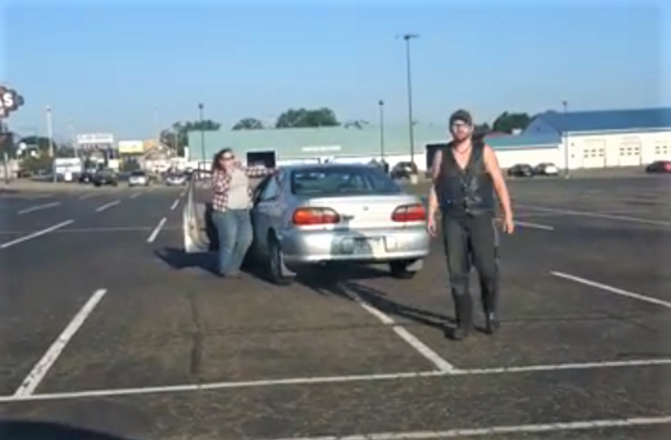 WATCH: Black woman confronts 'white power'-shouting racist who ran into her car