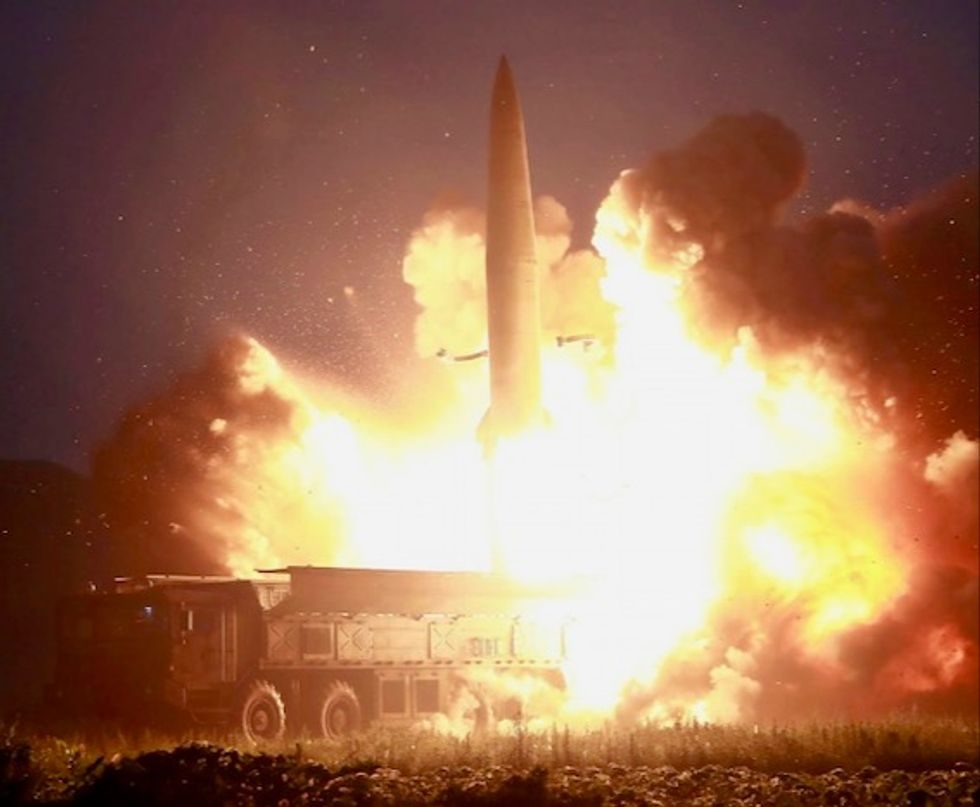 Kim sends missile 'warning' to South Korea, US as tensions rise