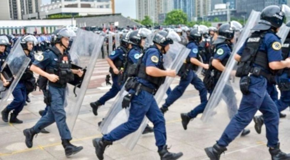 Chinese police drill video raises Hong Kong fears