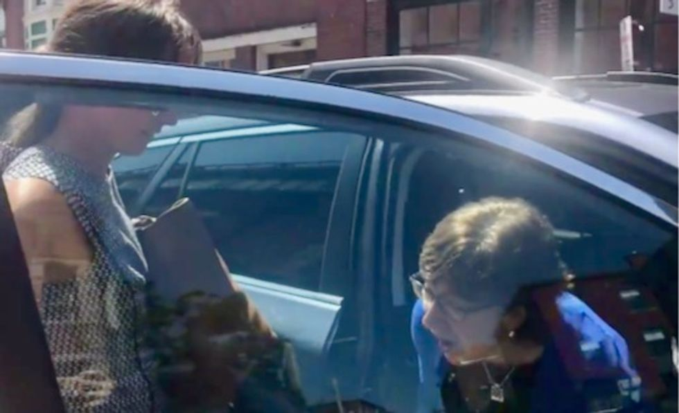 WATCH: Susan Collins drives away as college student tells her 'more kids are going to die' without gun control legislation
