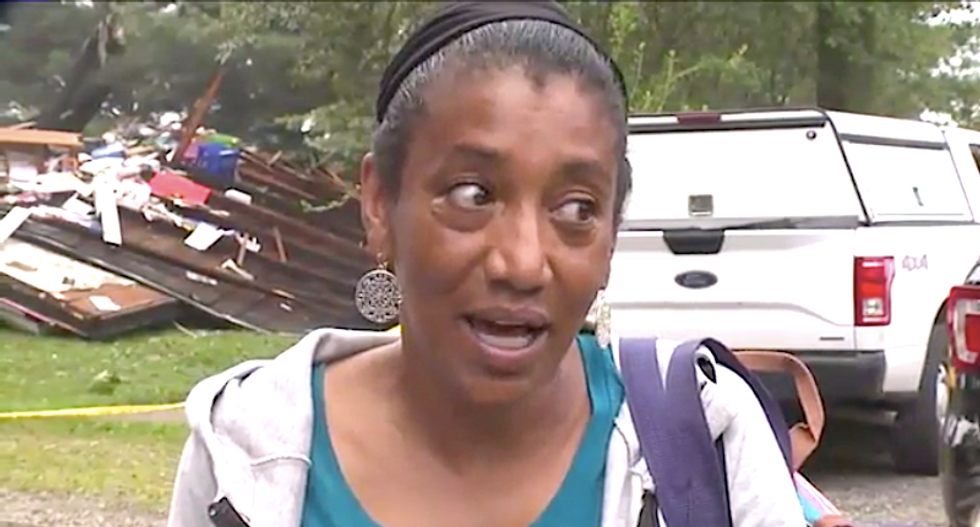 Explosion totally destroys interracial family's home in what appears to be a shocking racist attack
