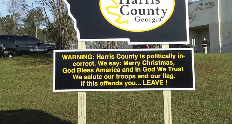 Georgia sheriff brags about 'politically incorrect' county with new sign: We say Merry Christmas