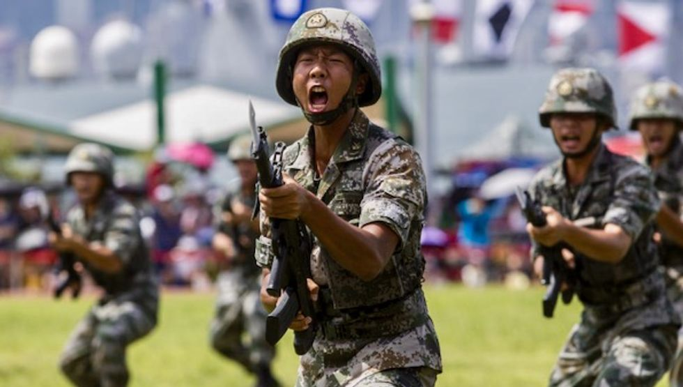 Troops at the border: A Chinese military intervention in Hong Kong?