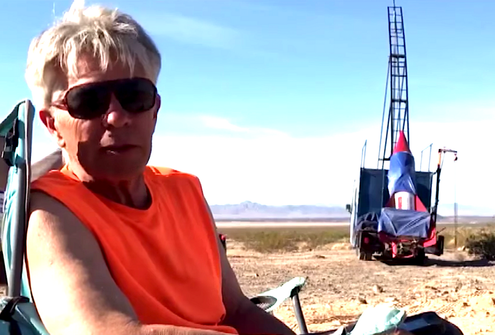 Flat Earther seeks Trump's attention with homemade rocket -- but gets thwarted by faulty Craiglist water heater