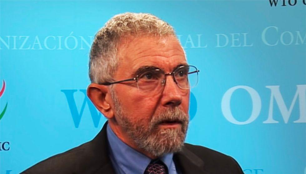 Paul Krugman pronounces sentence on president as economy begins collapse: 'Trumpanomics is a flop'