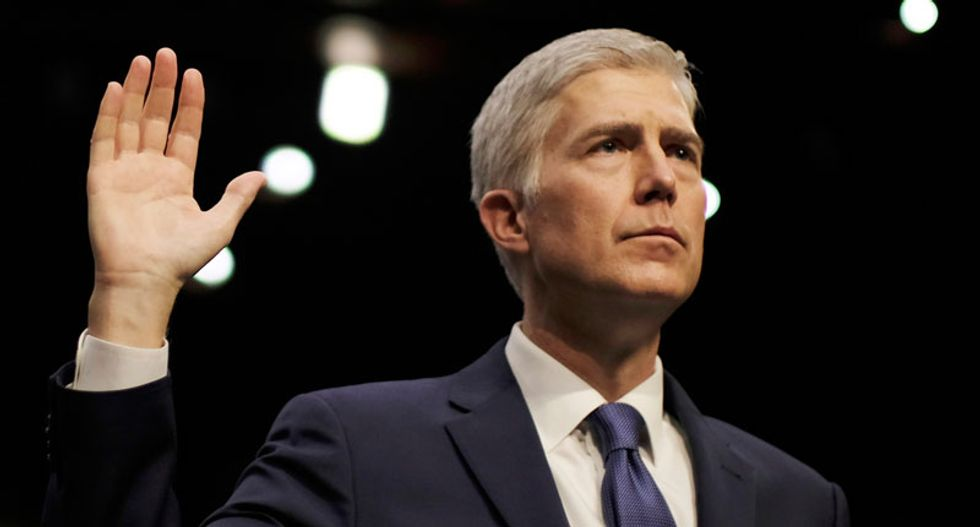 Trump's pick Neil Gorsuch sworn in, restoring Supreme Court's conservative tilt