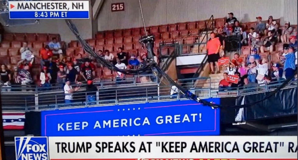 Trump bragged about the size of his crowd — but Fox News showed empty seats