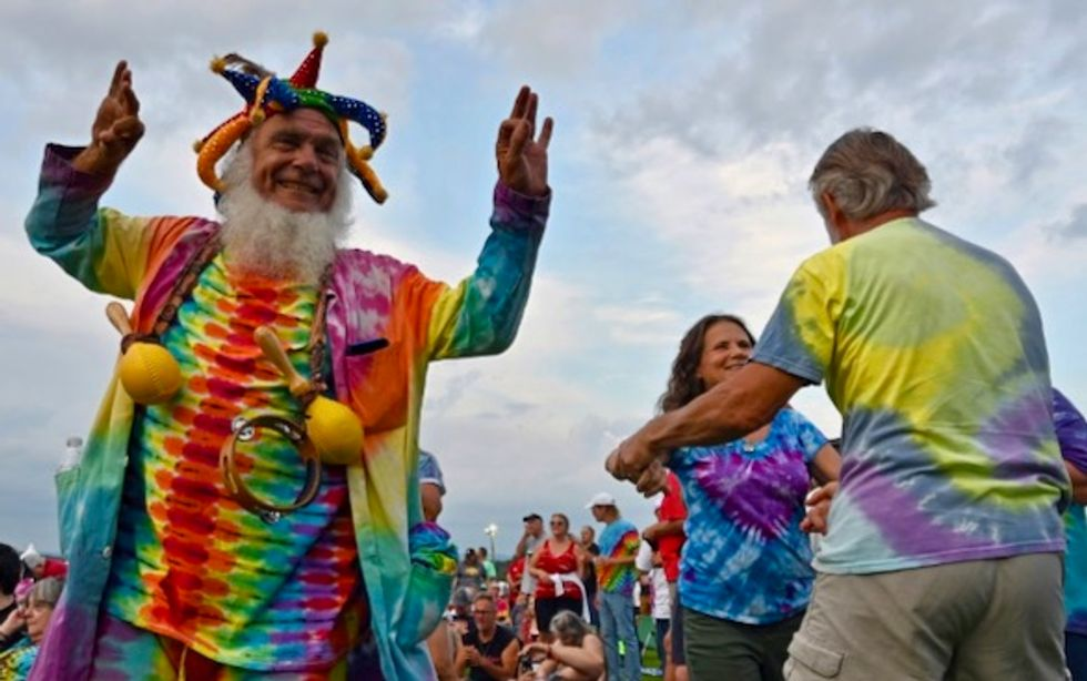 'Don't take the brown antacid': aging hippies flash back to Woodstock