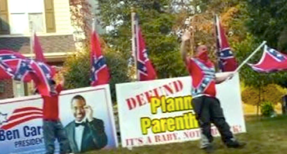 Confederate flag-waving gun nut targets black neighbor with months-long campaign of racist harassment