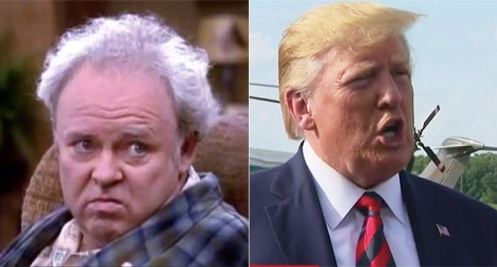 'Archie Bunker is in the Oval Office' flailing around searching for a fight: columnist