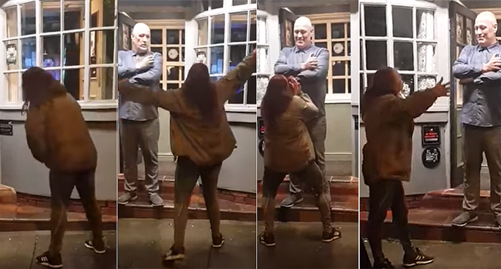 'I've been insulted by better': Hilarious video shows gay man perfectly handling slur-spewing drunk woman