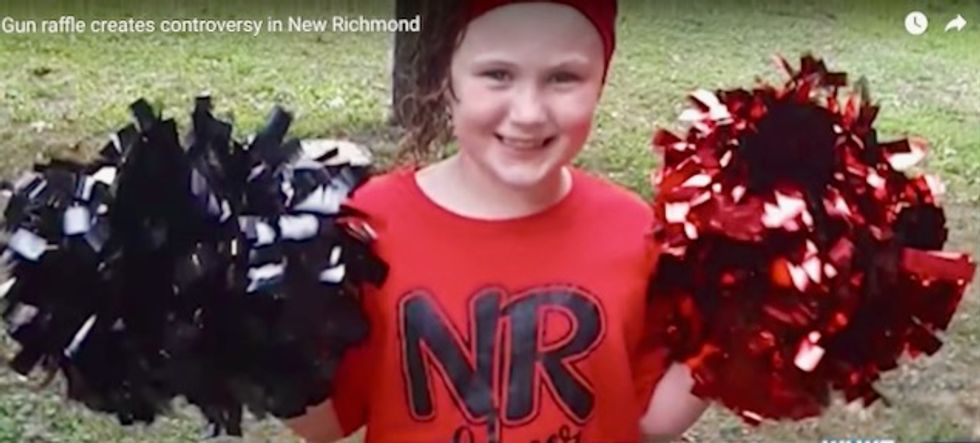 Kids on grade school cheerleading team asked to sell assault rifle raffle tickets – or pay $100 'opt-out fee'