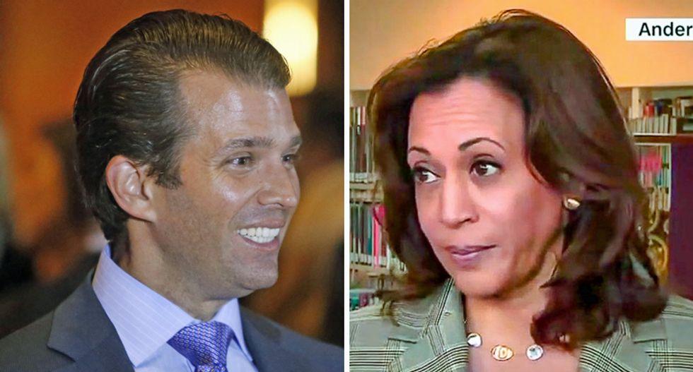 How Donald Trump Jr learned the hard way not to tussle with ex-prosecutor Kamala Harris