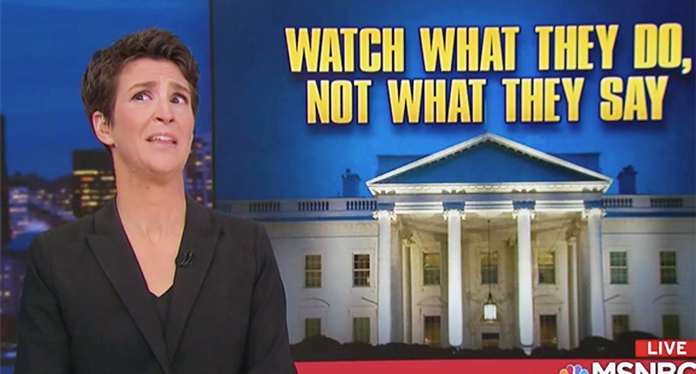 Maddow: You have to watch what the lying White House does -- and not what they say