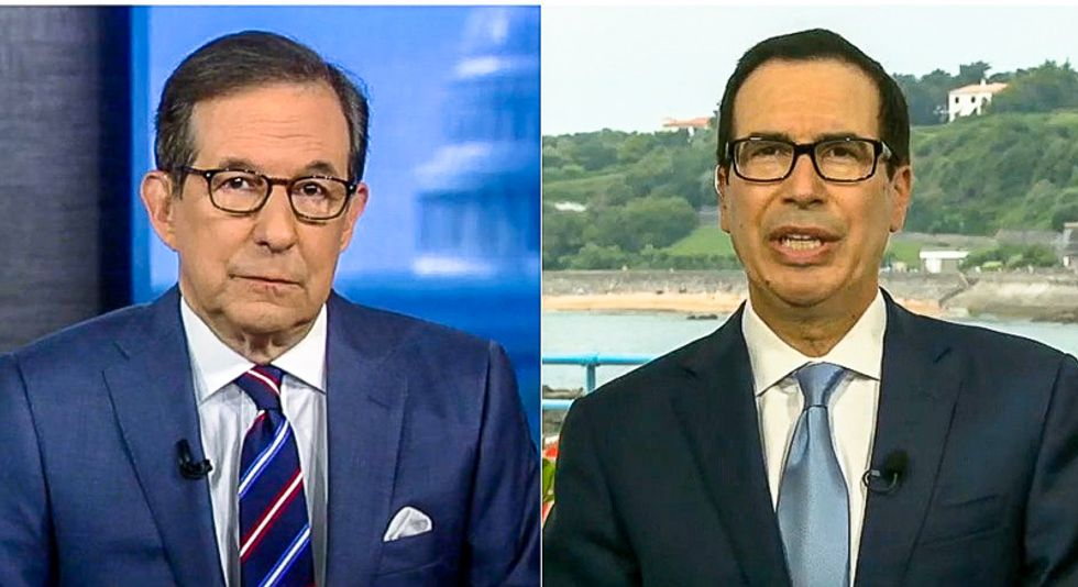 Mnuchin begs Chris Wallace: Take the president 'very literally' except on being 'the chosen one'