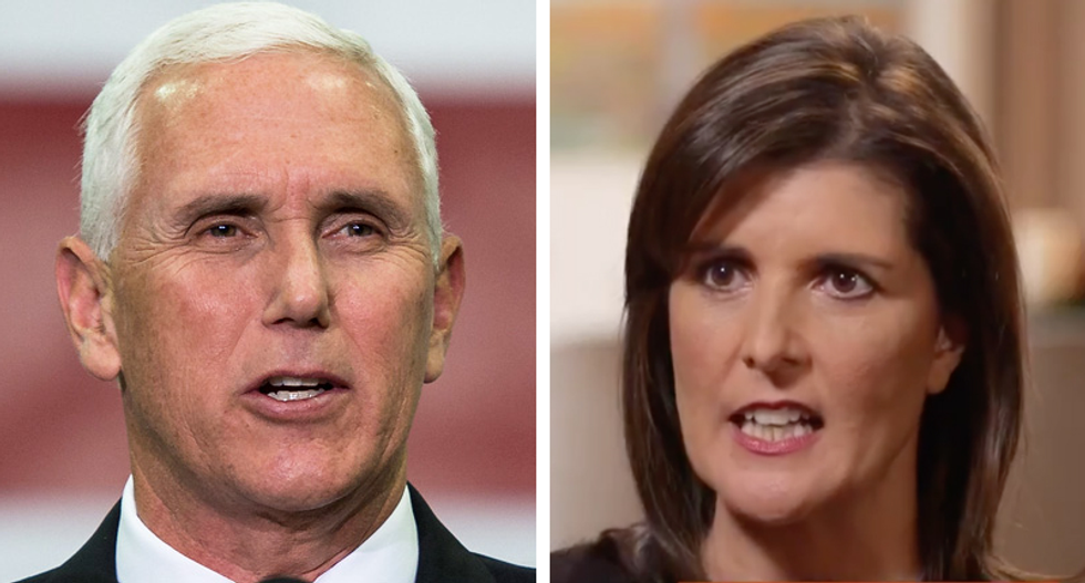 Mike Pence and Nikki Haley battled for attention at a GOP donor retreat: report
