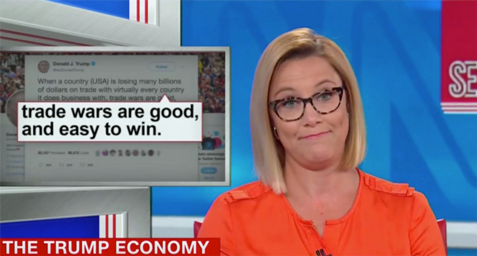 CNN anchor says Trump is 'arsonist-in-chief' on the economy: 'Start practicing your stop, drop and roll'
