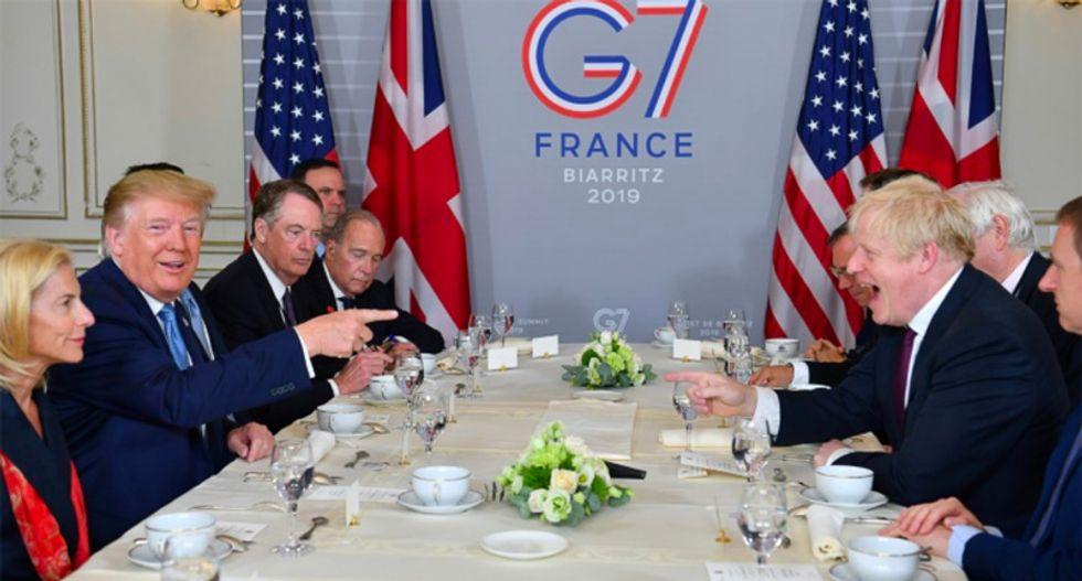 Trump backs Boris Johnson, sends mixed signals on China at G7