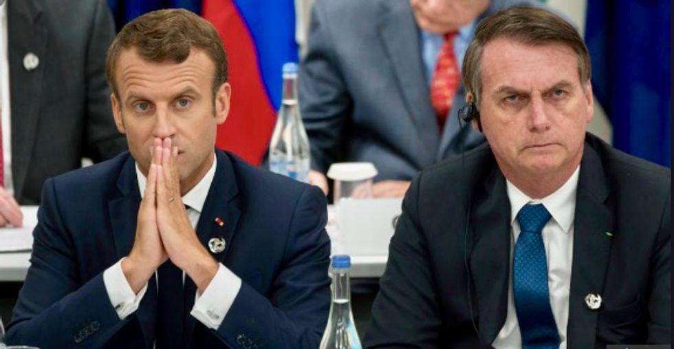 Brazil's Bolsonaro to stop using France's Bic pens, refuses to speak to Macron