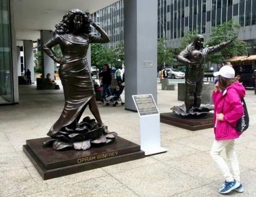 Statues for equality: Australians unveil NY sculptures of 10 women