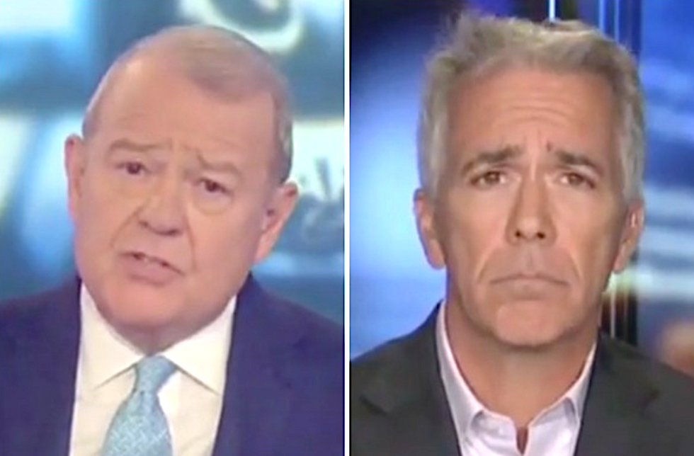 'Cult member' Stuart Varney burned to a crisp for declaring Trump has never lied in 'Orwellian' Fox Business segment