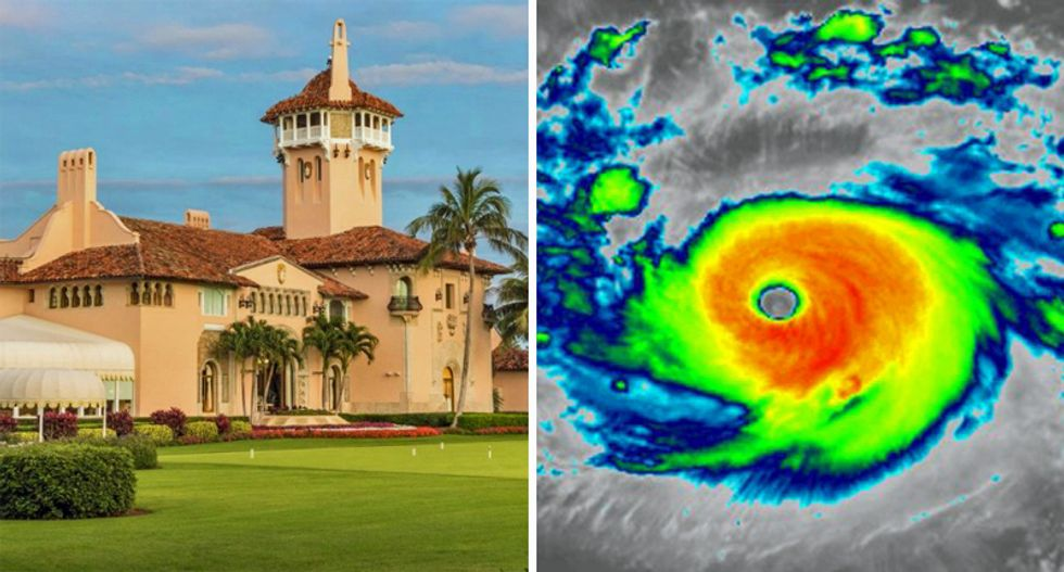 'Mar-a-Lago is dead center': Trump is concerned his club could be hit by 'record-setting' Hurricane Dorian