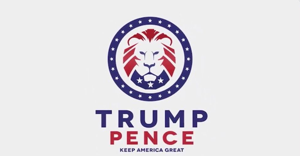 Trump 2020 logo looted from white supremacists