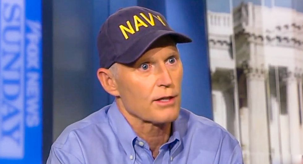 Rick Scott insists Trump is on top of the hurricane: 'He played golf yesterday and got updates'