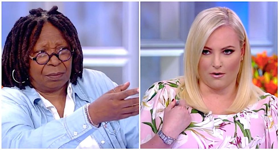 'Go ahead': Whoopi Goldberg patiently brushes aside Meghan McCain's complaint about speaking time