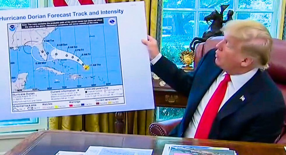 'It was Trump': WaPo reports the president himself doctored Hurricane Dorian map with a Sharpie