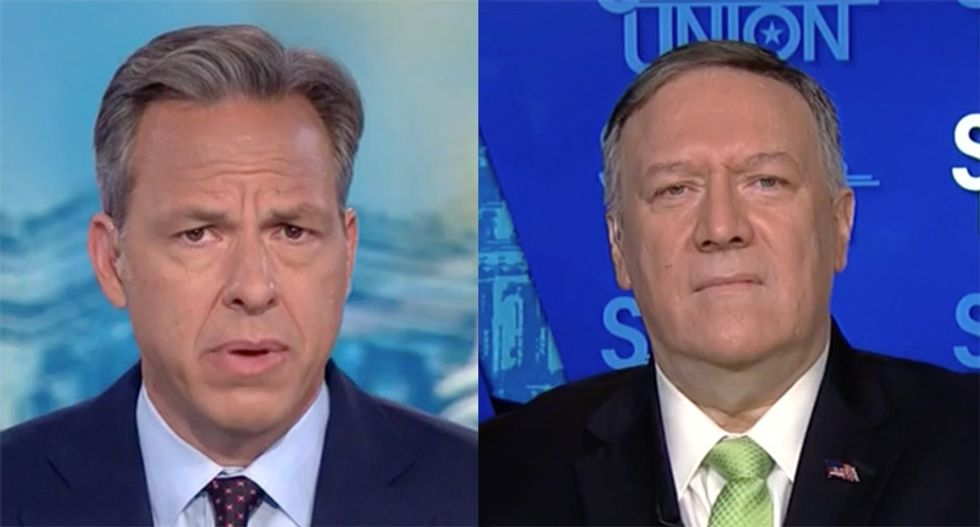 CNN's Tapper grills Pompeo for plan to bring Taliban to Camp David when they're still celebrating 9/11