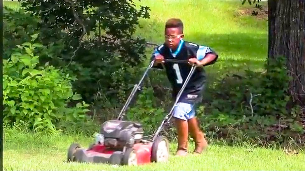'Whiteness is a helluva drug': NFL team hammered for giving black kid lawnmower instead of scholarship