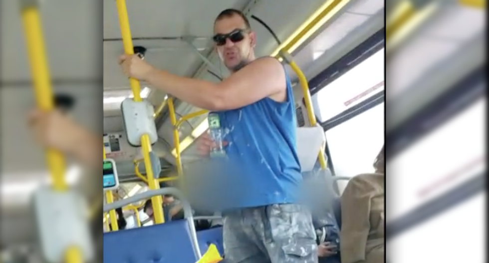 Man arrested after 'vile' racist and sexist spree -- that started on a bus and ended with assault