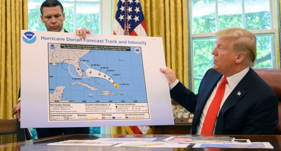 White House official busts Trump after president denies altering hurricane forecast map with a black Sharpie