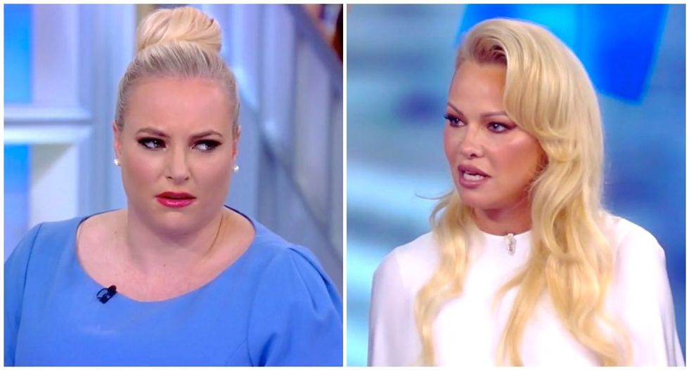 'Calm down, sir!' Meghan McCain snaps after audience sides with Pamela Anderson during tense exchange