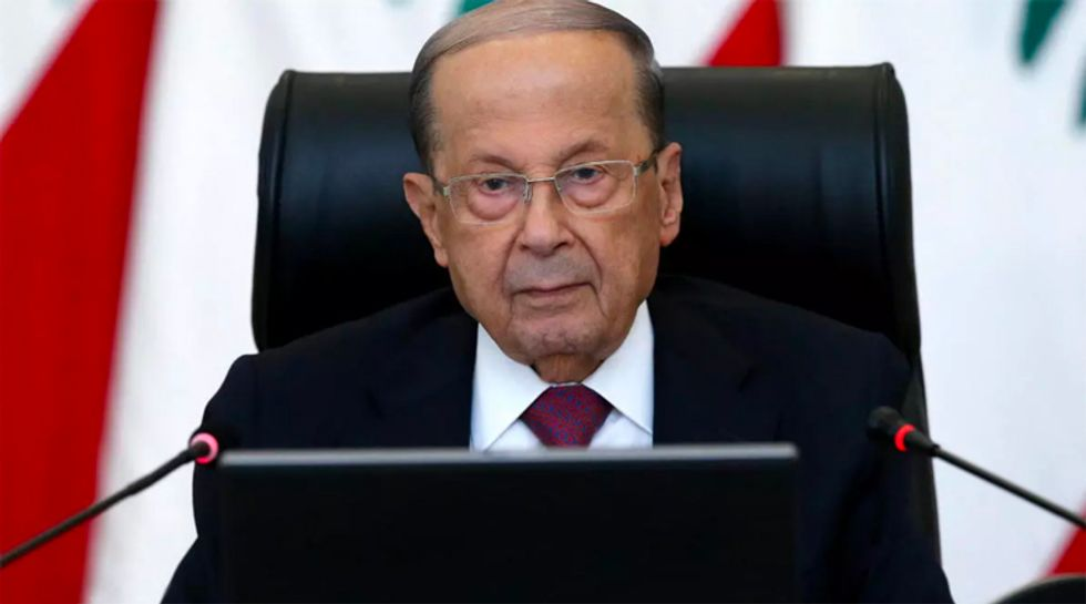 Lebanon president hedges over eventual peace with Israel in interview