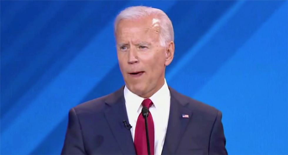 Joe Biden's teeth appear to fall out during the Democratic debate — and the internet has thoughts