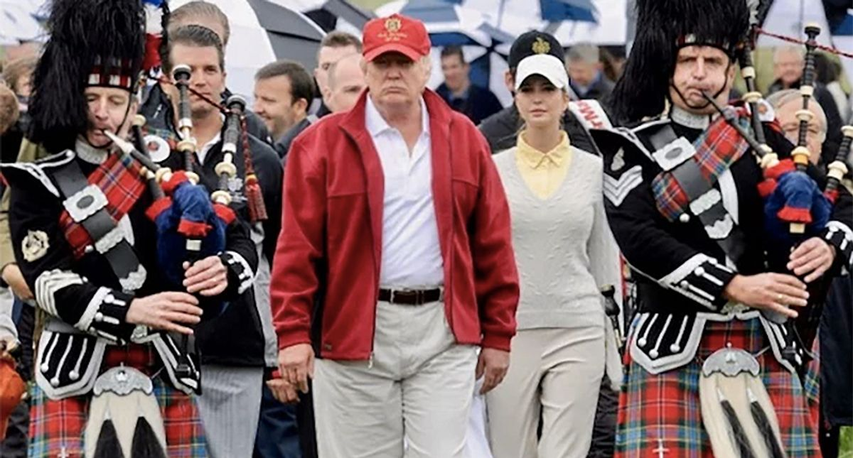 REVEALED: Trump and family stuck taxpayers with bills for undisclosed trips to his overseas golf resorts