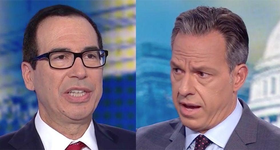 Tapper smacks Mnuchin with Trump kids' international business deals after attack on Biden son