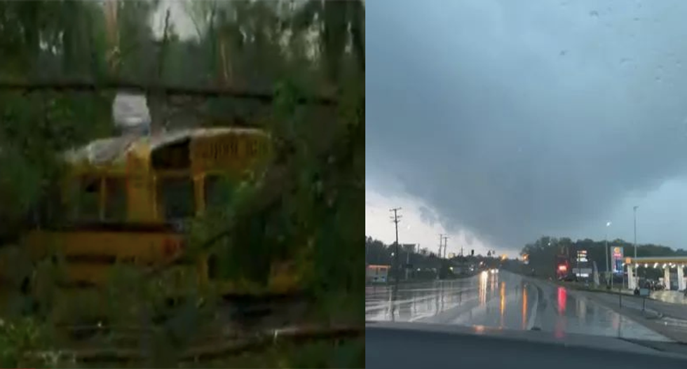 Mississippi hit with two 'catastrophic' EF4 tornadoes at the same time: 'This is flattening everything in its path'