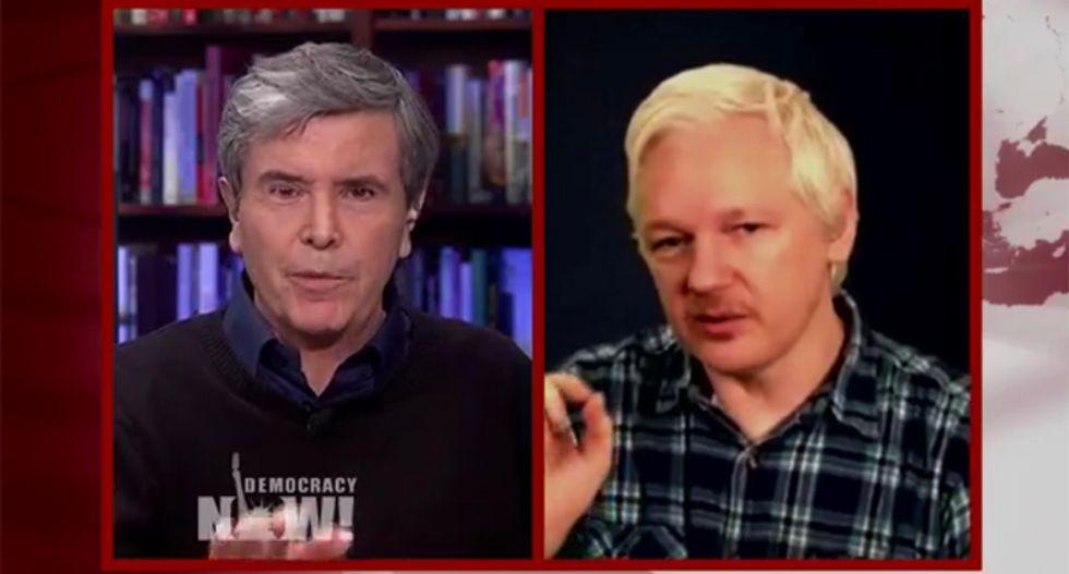 WATCH: Liberal journalist rips Julian Assange for 'gruesome' Trump/Clinton comparison in fiery interview
