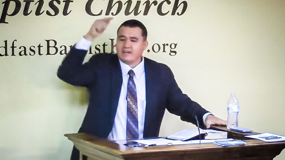 Texas pastor begs God to smite UFC fighter 'with a lightning bolt' because he threatened to punch Jesus