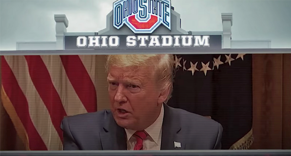 Trump's fears come true as he is now getting blamed for 'emptied stadiums' as Americans can't watch football