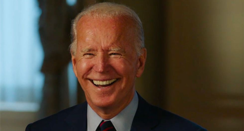 'Look at us both': Biden laughs then fires back at Trump for questioning his mental health
