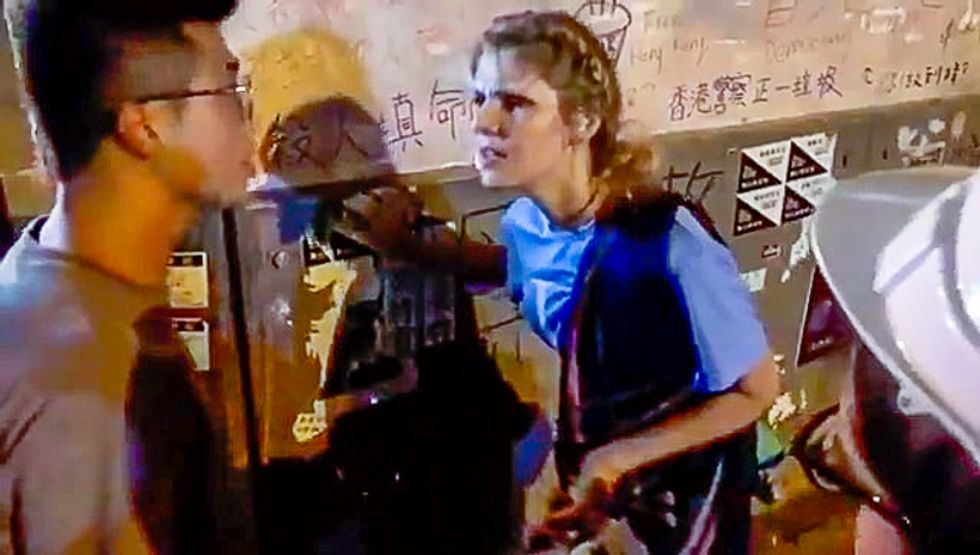 White woman caught on video lecturing Hong Kong protesters: 'Safety is more important than freedom'