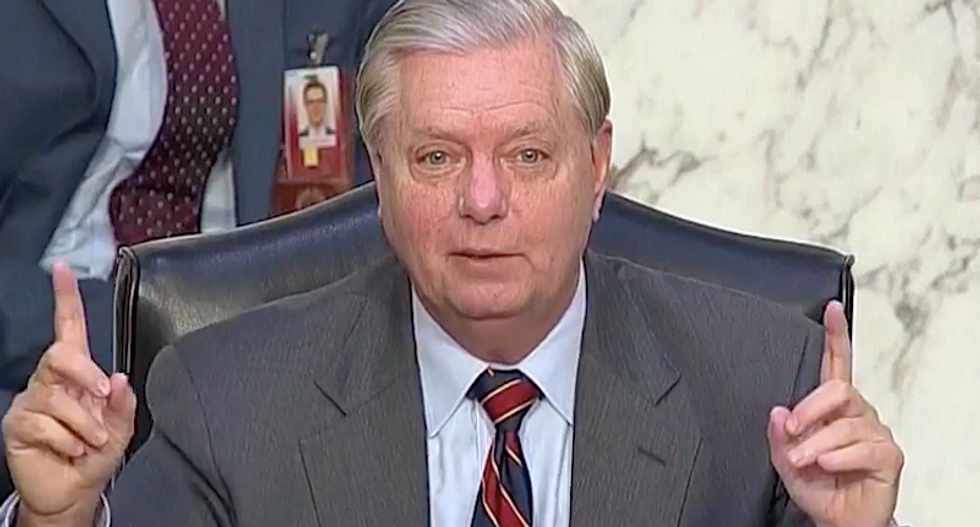 WATCH: Lindsey Graham uses Amy Barrett hearing to whine about his Senate rival Jaime Harrison